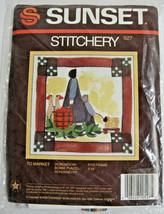 Sunset Stitchery Decorative Picture Kit  Designed by Bobbe Punzel Embroi... - $18.95