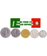 5 ITALIAN COINS DIFFERENT EUROPEAN COINS FOREIGN CURRENCY, MONEY - $57,15 MXN