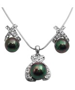 Tahitian Pearls Pendant Necklace Oyster Shell Pearls Pendant Jewelry - $22.48