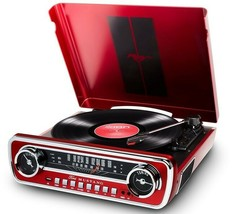 ION 1965 FORD MUSTANG LP Car-Styled Turntable Record Player w/ AM/FM Rad... - £95.64 GBP
