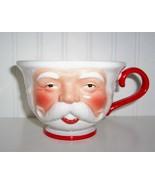 Large Old World Santa Face Ho Ho Ho Cup /Mug Dept 50 - $9.99