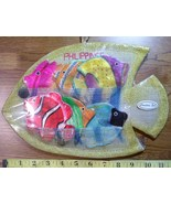 Fish Shell Coaster Set of (6) New in Fish Wall Hanger Nice! - $11.25