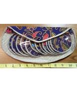 Coaster Set of (12) Flower Designs w/Snap Case Singapore  - $10.80