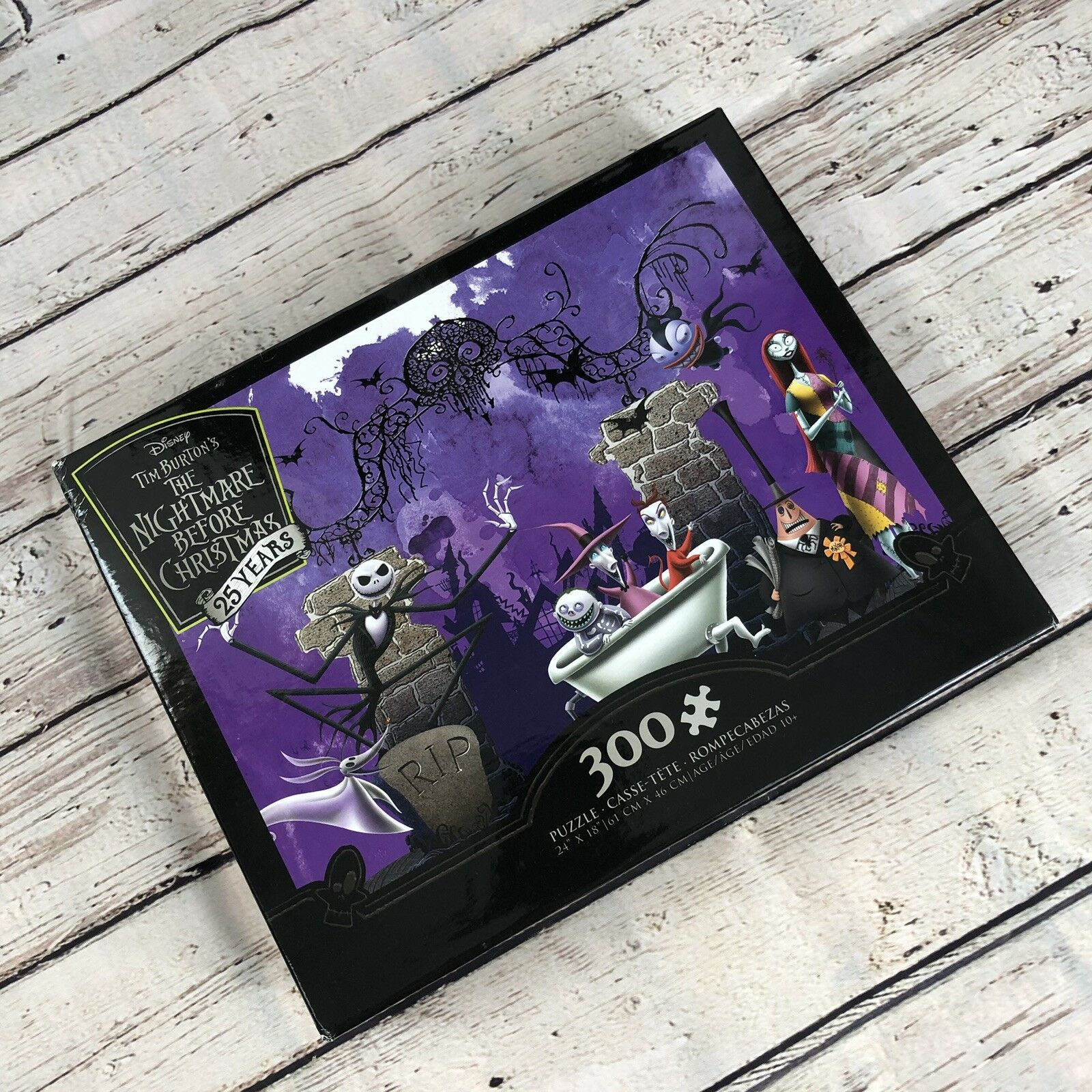 Primary image for The Nightmare Before Christmas 300 Piece Puzzle w/ Bonus Puzzle Poster - 24x18""