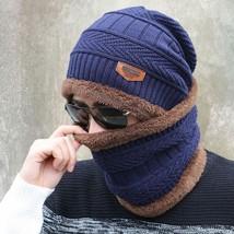 Winter Camping Hat + Scarf Knit Ski Cap Fleece Beanie Wool Warm Unisex M... - $16.13