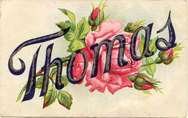 Thomas Vintage Large Letter Post Card  - $6.00