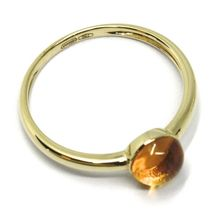 SOLID 18K YELLOW GOLD RING, CABOCHON CENTRAL CITRINE, DIAMETER 6mm image 3