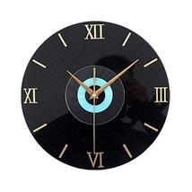 PANDA SUPERSTORE Retro Black Plastic CD Wall Clock Fashion Elegant Home ... - $56.00