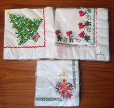 Three vintage Christmas (Xmas) Paper Napkins: incl. Hallmark Little Drum... - $24.14