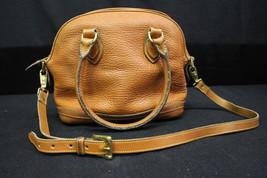 VINTAGE DOONEY & BOURKE Norfolk Satchel ALL WEATHER British Tan Leather - $149.99