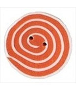 Medium Orange White Swirl 3479m handmade clay b... - $1.40