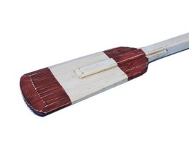 Hampton Nautical Wooden Rustic Eastern Bay Squared Rowing Oar with Hooks... - $40.90