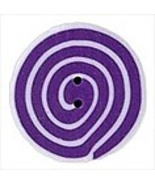 Tiny Violet White Swirl 3480t handmade clay but... - $1.40