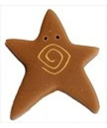 """XLg Tarnished Gold Swirly Star 3481X handmade button 1"""" JABC Just Anothe... - $1.40"""