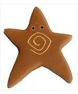 XLg Tarnished Gold Swirly Star 3481X handmade b... - $1.40