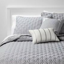 NEW THRESHOLD Richmond Gray Quilt Set 5 pc, King,1 Quilt, 2 Shams & 2 Pillows - $39.59
