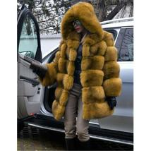 Women's Trendy Winter Quilted Faux Fur Hooded Thick Coat in 4 Hot Colors image 4