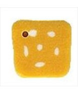 """Small Dotted Yellow Square 3483s handmade button .25"""" JABC Just Another ... - $1.40"""
