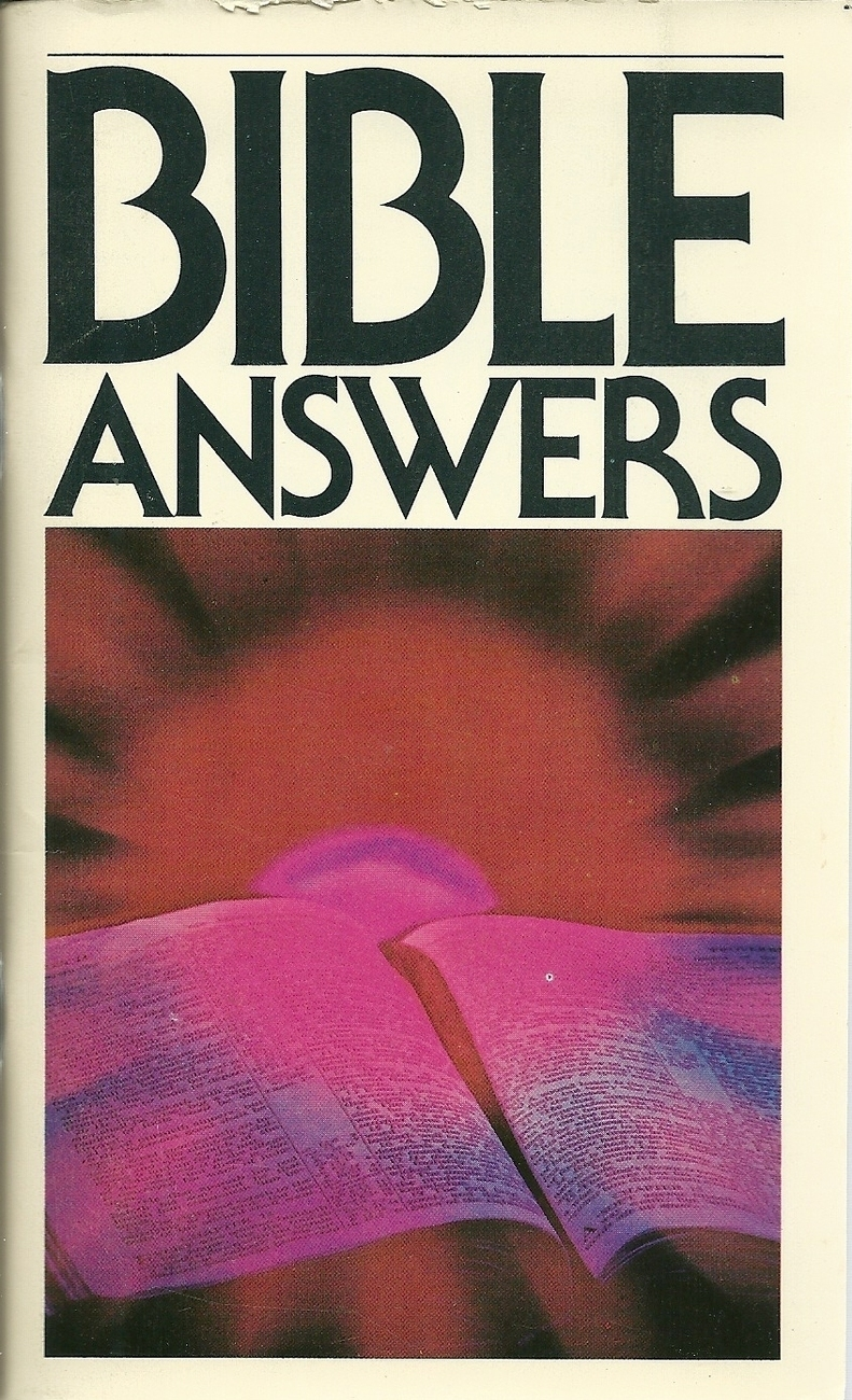 Bible Answers Softcover Book Christian Vintage