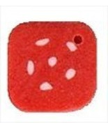 Small Dotted Coral Square 3484s handmade button... - $1.40