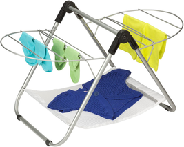 Folding Clothes Drying Rack Steel For Laundry Room Easy Storage Dry Spac... - $27.71