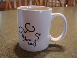 Personalized Ceramic Mug Your name written with Stethoscope - $12.50