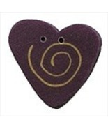 "Small Lilac Swirly Heart 3486s handmade button .62"" JABC Just Another Bu... - $1.60"