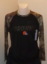 Cleveland Browns Shirt - NFL Apparel - Large - NWT - Camouflage Long Sleeve - $35.49