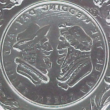 3 Westmoreland Glass Cup Plate Henry Clay Wedding Eagle
