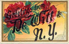 Greetings From De Witt New York Vintage 1912 Post Card - $3.00
