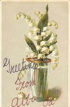 Greetings From Alba Bradford County Pennsylvania Vintage 1910 Post Card - $5.00