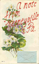 Greeting From Keeneyville Pennsylvania Vintage1909 Post Card - $5.00