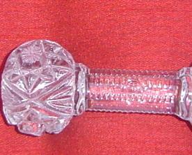 Vintage Cut Crystal Knife Rest Signed