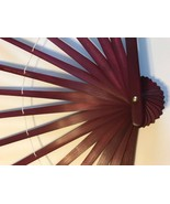 23 x 12 Brown Wood Bamboo Hand Fan Stave Costume Ostrich Feather Dance Base - $11.99