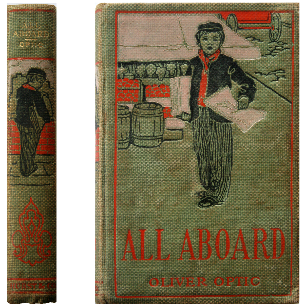 c. 1900 Oliver Optic - All Aboard *Vintage Children's Book*