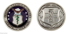"Air Force Medic Medical Service Caduceus Cross Badge 1.75"" Challenge Coin - $18.04"