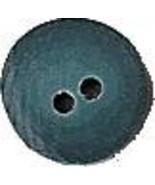 "Ken Button Teal 3494 handmade clay button .25"" JABC Just Another Button - $1.40"