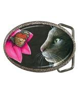 Belt Buckle Cat 518 from original Art Unique - $18.99