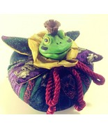 """The Frog Prince"" Bean Bag Frog by Russ Berrie Royal Winterfest Collecti... - $24.14"