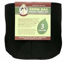 Gro Pro Premium Round Fabric Pot 3 Gallon, Black - £12.15 GBP