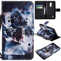 XYX Wallet Phone Case for LG K10 2018,[Magician][Wrist Strap][Kickstand]... - $4.94