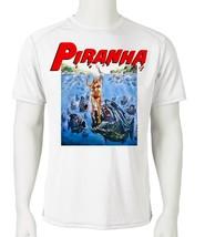 Piranha Dri Fit graphic T-shirt retro 80s sci fi horror movie SPF sun shirt image 2