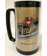 Thermo-Serv MILLER GENUINE DRAFT Vintage Beer Mug WHITE Retro Drinkware - $9.71