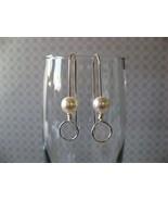Contemp-O Cream Pearl Earrings Handmade by Chula - $22.00