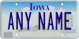 Custom Personalized Iowa golf cart, mobility scooter license, go cart plate - $12.99