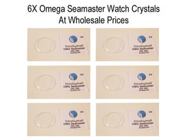 6X Watch Plastic PLEXI-GLASS Crystal For Omega Seamaster Wholesale 30.6mm WC9 - $48.47