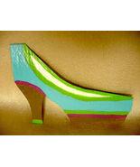 IUPPA CUT ACEO ORIGINAL Acrylic Painting High Heel Shoe - $9.29