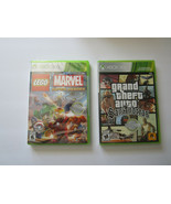 Lot of 2 Xbox 360 Games Lego Super Marvel Heroes GTA San Andreas New Sealed - $16.49