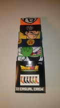 dragonball super mens casual crew socks fits shoe size  8 12 six pairs p... - $23.95