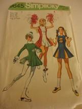 Vintage 1970 Cheerleader Majorette Skater Size 7/8 cut Simplicity sewing... - $10.88